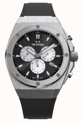 TW Steel | PDG | édition limitée | chronographe | caoutchouc noir | CE4041