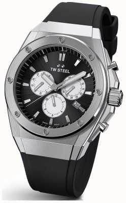 TW Steel | ceo tech | édition limitée | chronographe | caoutchouc noir | CE4041