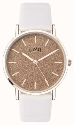 Limit | jardin secret des femmes | bracelet en cuir blanc | cadran rose | 60044.73