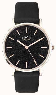 Limit | jardin secret des femmes | bracelet en cuir noir | cadran noir | 60045.73