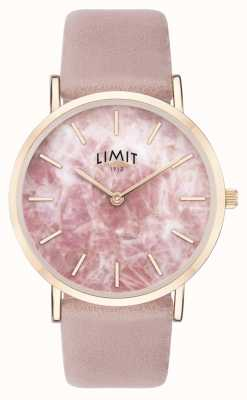 Limit | jardin secret des femmes | bracelet en cuir rose | cadran rose | 60050.73