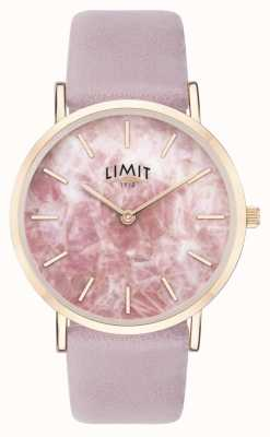 Limit | jardin secret des femmes | bracelet en cuir violet | cadran rose | 60051.73