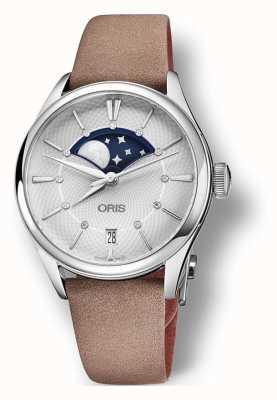 Bracelet Oris Artelier Grande Lune 36 mm marron clair 01 763 7723 4051-07 5 18 33FC