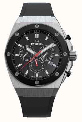 TW Steel | ceo tech | édition limitée | chronographe | caoutchouc noir | CE4042