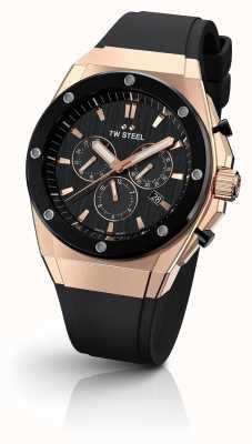 TW Steel Ceo tech | chrono | cadran noir | bracelet en caoutchouc noir CE4048