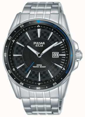 Pulsar | sports d'accélérateur | bracelet en acier inoxydable | cadran noir PX3203X1
