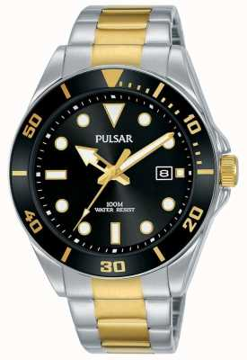 Pulsar | sport occasionnel | bracelet en acier inoxydable | cadran noir | PG8295X1