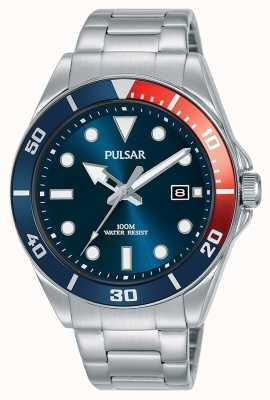 Pulsar | sport occasionnel | bracelet en acier inoxydable | cadran bleu | PG8291X1