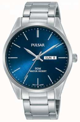 Pulsar | mens jour / date | bracelet en acier inoxydable | cadran bleu | PJ6109X1