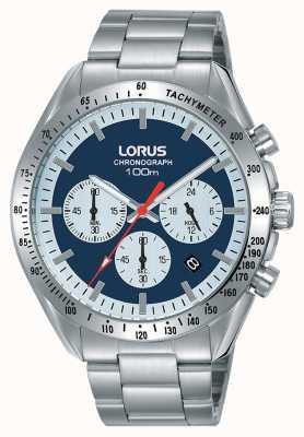 Lorus   chronographe homme   bracelet en acier inoxydable   cadran bleu   RT339HX9