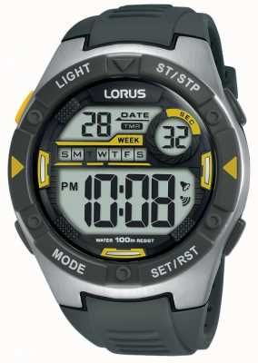 Lorus | mens sports digital | bracelet en caoutchouc noir | R2397MX9
