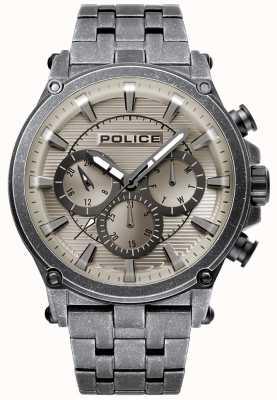 Police | mens taman | bracelet en acier inoxydable | cadran gris métallique 15920JSQU/20M
