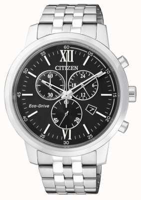 Citizen | chronographe eco-drive pour homme | acier inoxydable | cadran noir AT2300-51E