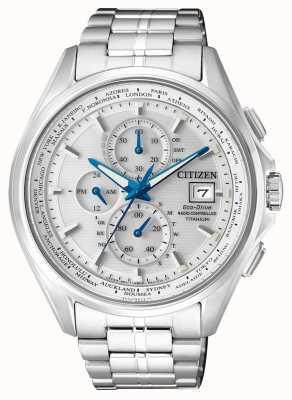 Citizen | chronographe mondial eco-drive pour hommes à | bracelet en titane | AT8130-56A