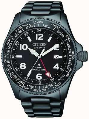 Citizen | hommes eco-drive promaster gmt | cadran noir | bracelet noir | BJ7107-83E