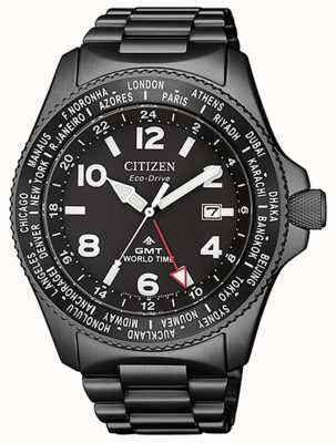 Citizen | mens eco-drive promaster gmt | cadran noir | gris pvd BJ7107-83E