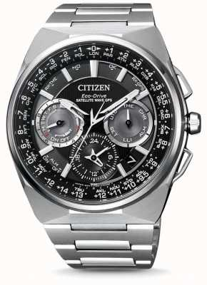Citizen Montre Homme Wave Satellite GPS Chronographe F900 Bracelet en Titane Cadran Noir CC9008-84E