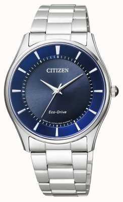 Citizen | eco-drive pour homme | bracelet en acier inoxydable | cadran bleu | BJ6480-51L