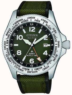 Citizen | hommes | eco-drive promaster gmt | toile verte | BJ7100-23X