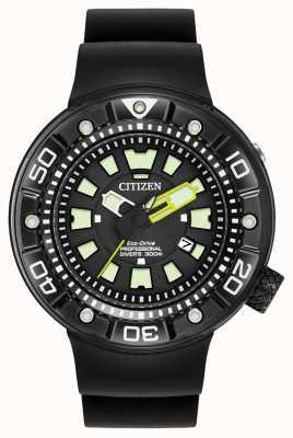 Citizen | plongeur promaster eco-drive pour hommes | bracelet en caoutchouc noir | BN0175-01E
