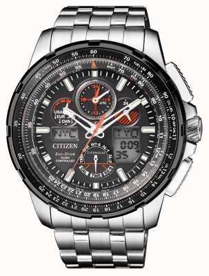 Citizen | Skyhawk eco-drive pour hommes à | bracelet en titane | cadran noir JY8069-88E