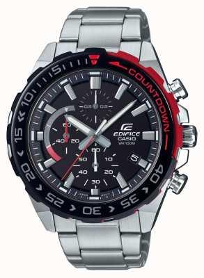Casio | chronographe édifice | bracelet en acier inoxydable | cadran noir EFR-566DB-1AVUEF