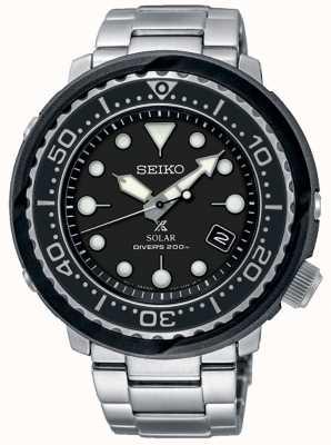 Seiko | prospex | solaire | plongeur | cadran noir | SNE497P1