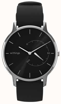 Withings Move Timeless Chic - Silicone noir, noir HWA06M-TIMELESS CHIC-MODEL 1-RET-INT