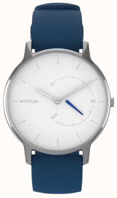 Withings Move intemporel chic - silicone blanc, bleu HWA06M-TIMELESS CHIC-MODEL 2-RET-INT