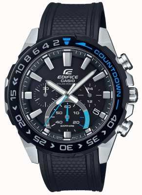 Casio | édifice solaire | bracelet en caoutchouc noir | cadran noir chronographe EFS-S550PB-1AVUEF
