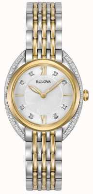 Bulova Diamant classique femme | bracelet en acier inoxydable deux tons 98R229