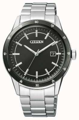 Citizen   eco-drive pour homme   bracelet en acier inoxydable   cadran noir   AW1164-53E