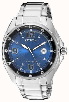 Citizen | eco-drive pour homme | cadran bleu | bracelet en acier inoxydable | AW1510-54L