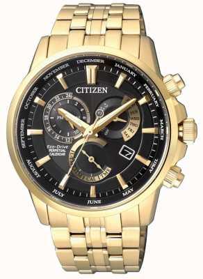 Citizen | calibre eco-drive pour homme 8700 | cadran noir | ton or | BL8142-84E