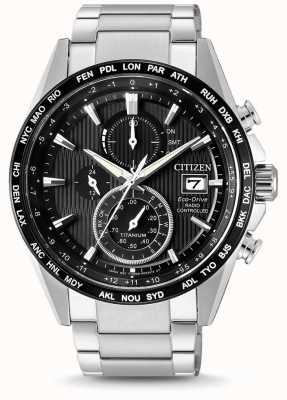 Citizen | eco-drive radio wave mens h800 | bracelet en titane | AT8154-82E