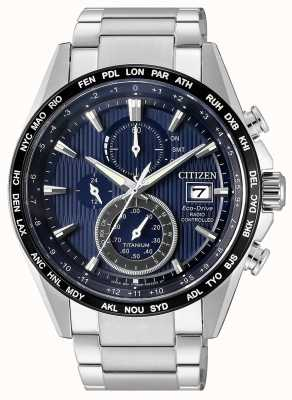 Citizen | eco-drive radio wave mens h800 | bracelet en titane | AT8154-82L