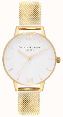 Olivia Burton | les femmes | bracelet en maille d'or | cadran blanc | OB16MDW35