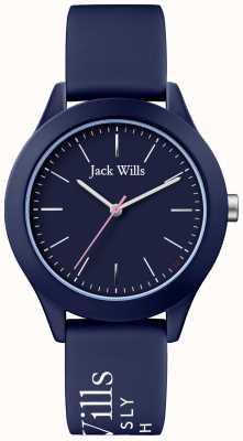 Jack Wills | syndicat des femmes | cadran marine | bracelet en silicone marine | JW009NVBL