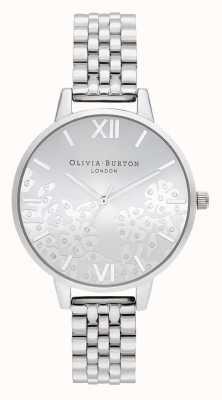 Olivia Burton   les femmes   dentelle bejeweled   bracelet en acier inoxydable   OB16MV101