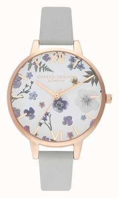 Olivia Burton | les femmes | artisan | bracelet en cuir gris | OB16AR10