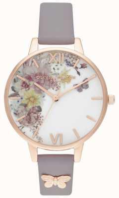 Olivia Burton | les femmes | jardin enchanté | bracelet lilas demi gris | OB16EG129
