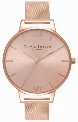 Olivia Burton Femmes | rayon de soleil | bracelet en maille d'or rose OB16BD102