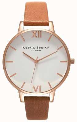 Olivia Burton Femmes | cadran blanc | sangle beige OB16BDW19
