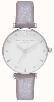 Olivia Burton | les femmes | reine des abeilles | bracelet en cuir gris | OB16AM144