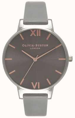 Olivia Burton Femmes   cadran gris   bracelet gris OB16BD90