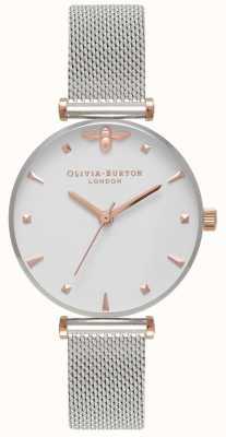 Olivia Burton | des femmes | reine des abeilles | bracelet en maille d'acier inoxydable | OB16AM140