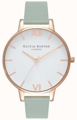 Olivia Burton Femmes | cadran blanc | bracelet à la menthe OB16BDW27