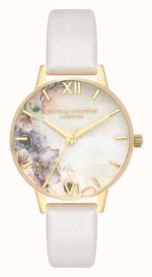 Olivia Burton | les femmes | fleurs d'aquarelle | bracelet en cuir blush | OB16PP45