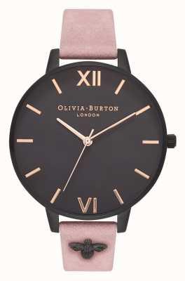 Olivia Burton | les femmes | Abeille 3d | bracelet en daim rose embelli | OB16ES09
