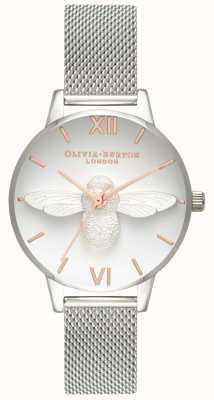 Olivia Burton Femmes   Abeille 3d   bracelet en maille d'acier inoxydable OB16AM146